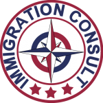 Immigration Consult logo for US Citizenship Test